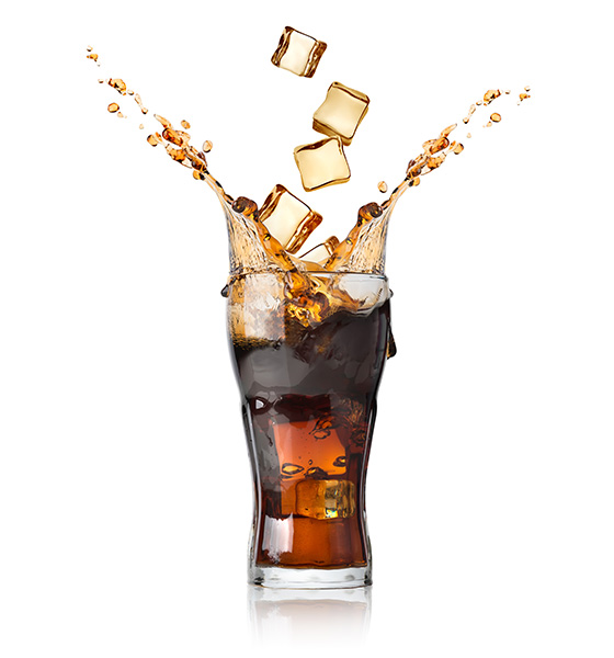 Coca cola with lots of soda